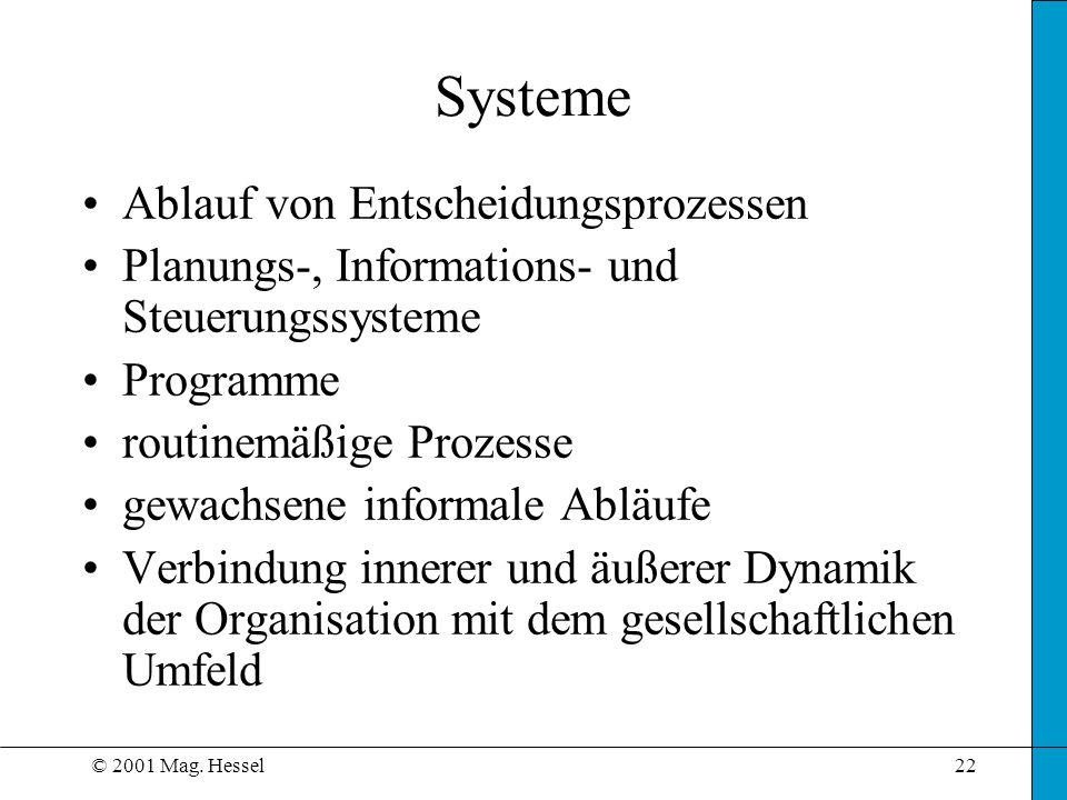 Systeme Ablauf von Entscheidungsprozessen