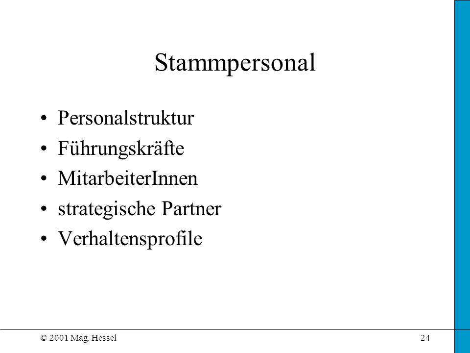 Stammpersonal Personalstruktur Führungskräfte MitarbeiterInnen