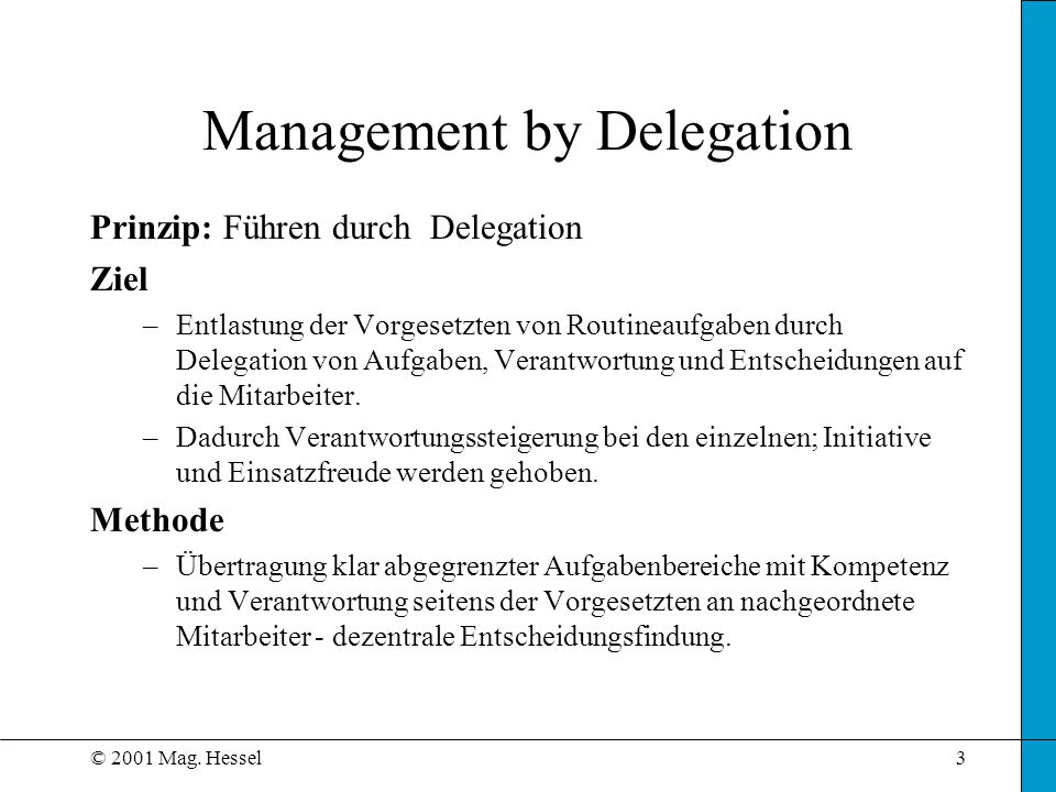 Management by Delegation