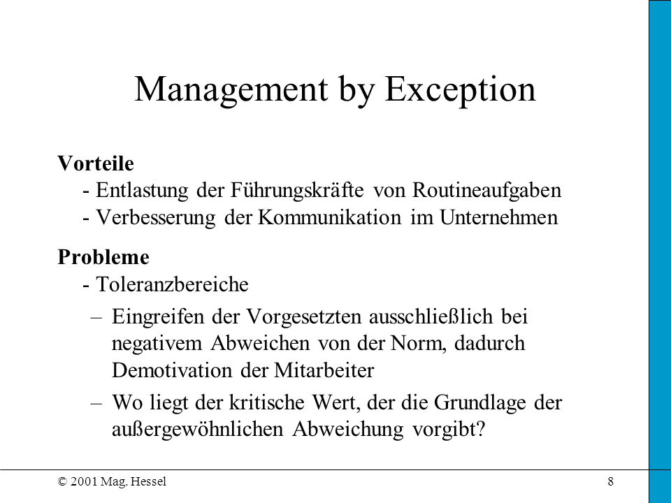 management by exception - Akba.greenw.co