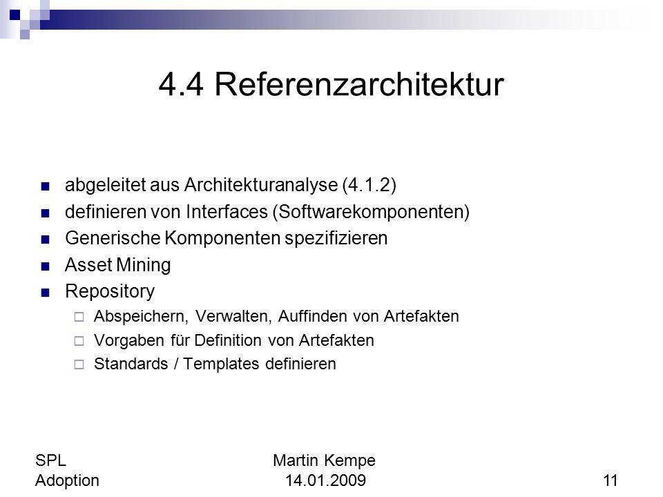 4.4 Referenzarchitektur abgeleitet aus Architekturanalyse (4.1.2)