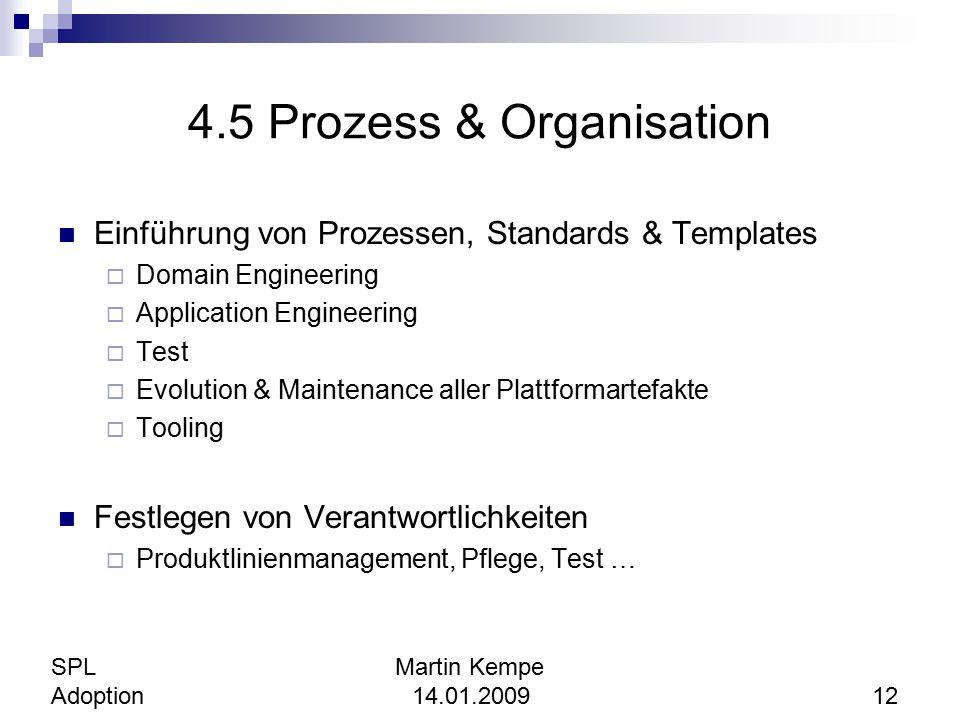 4.5 Prozess & Organisation