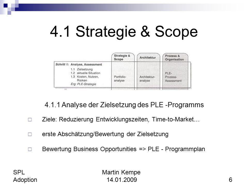 4.1.1 Analyse der Zielsetzung des PLE -Programms