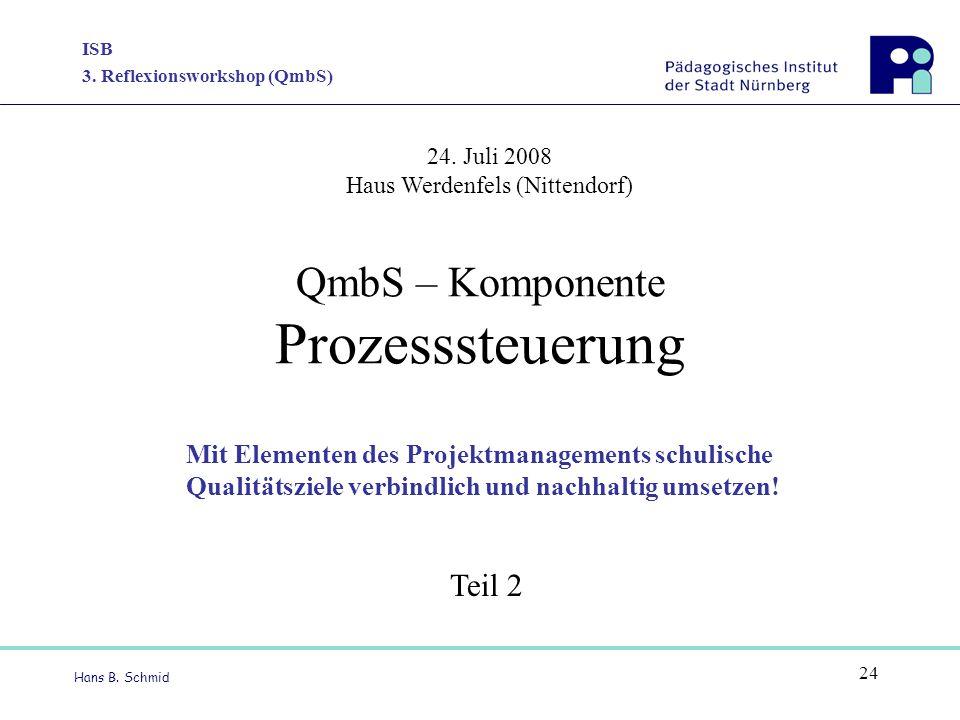 QmbS – Komponente Prozesssteuerung