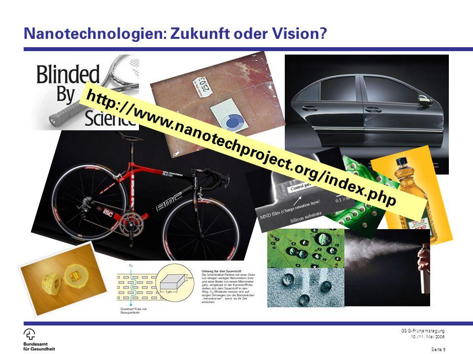 Nanotechnologien: Zukunft oder Vision