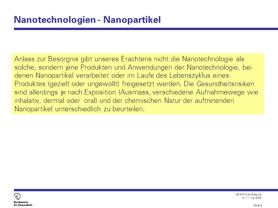 Nanotechnologien - Nanopartikel