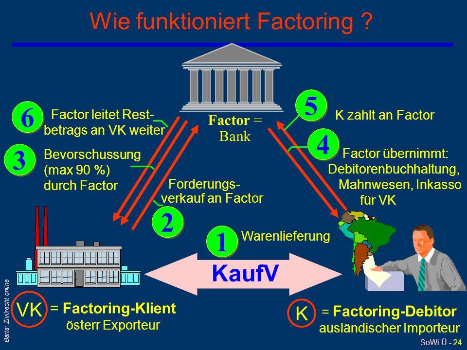 Wie funktioniert Factoring