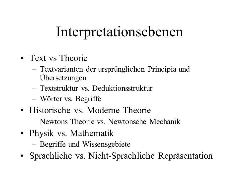 Interpretationsebenen