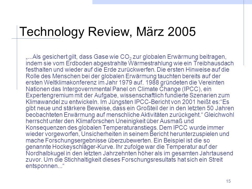 Technology Review, März 2005