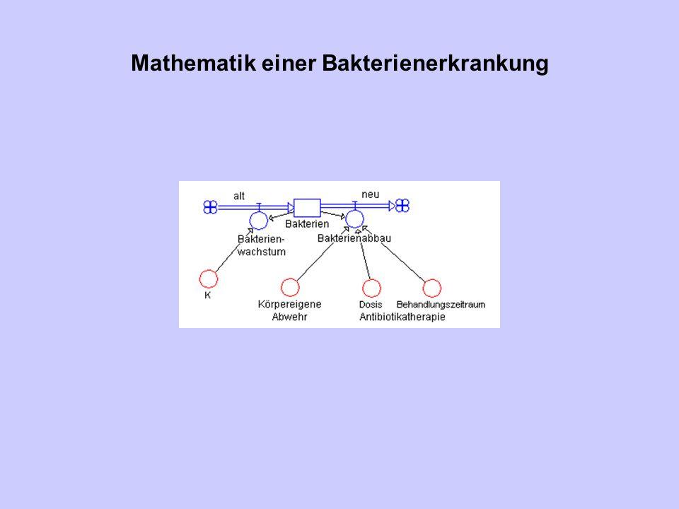Mathematik einer Bakterienerkrankung