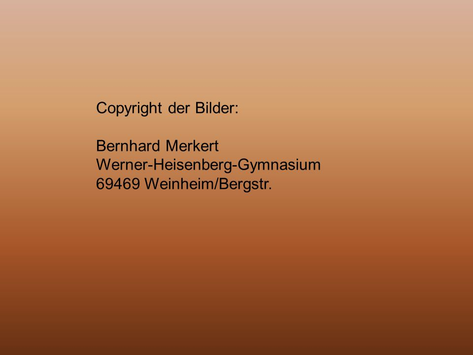 Copyright der Bilder: Bernhard Merkert