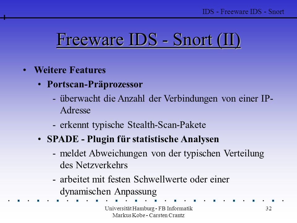 Freeware IDS - Snort (II)