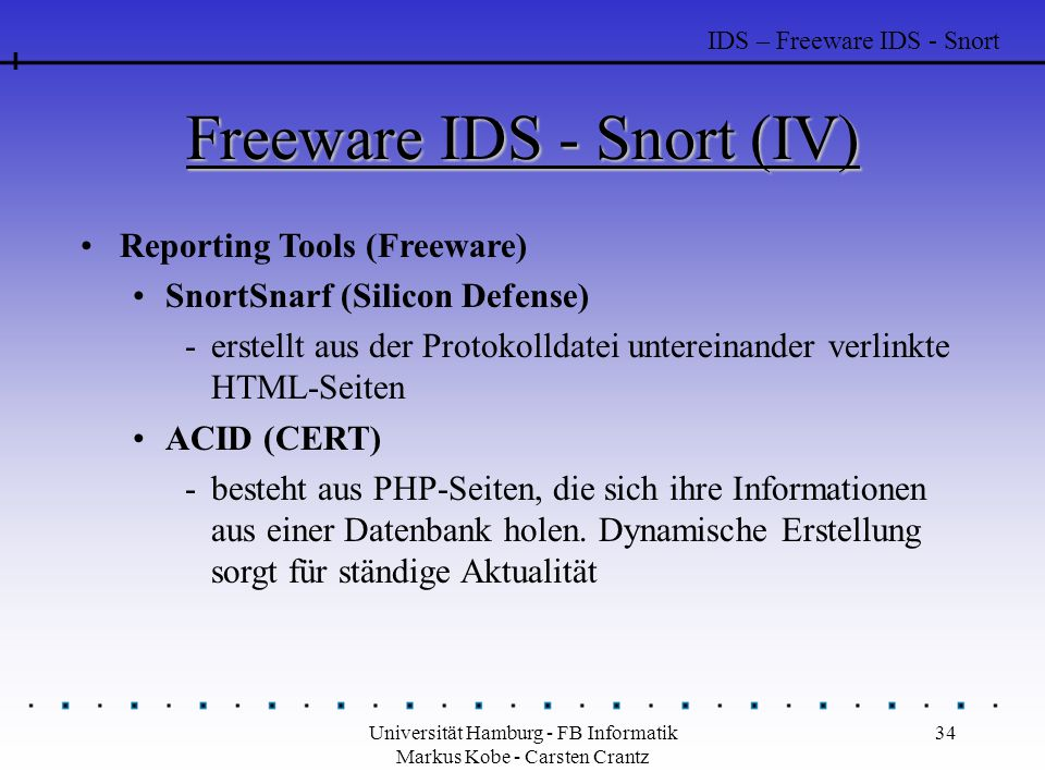 Freeware IDS - Snort (IV)