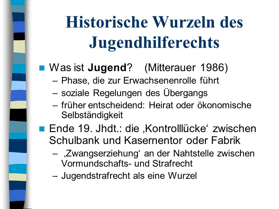 Historische Wurzeln des Jugendhilferechts