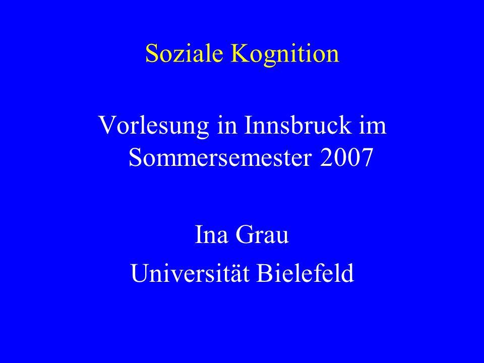 Vorlesung in Innsbruck im Sommersemester 2007