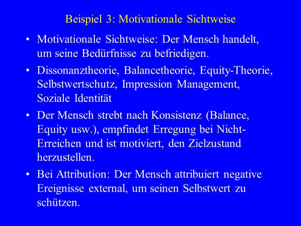 Beispiel 3: Motivationale Sichtweise