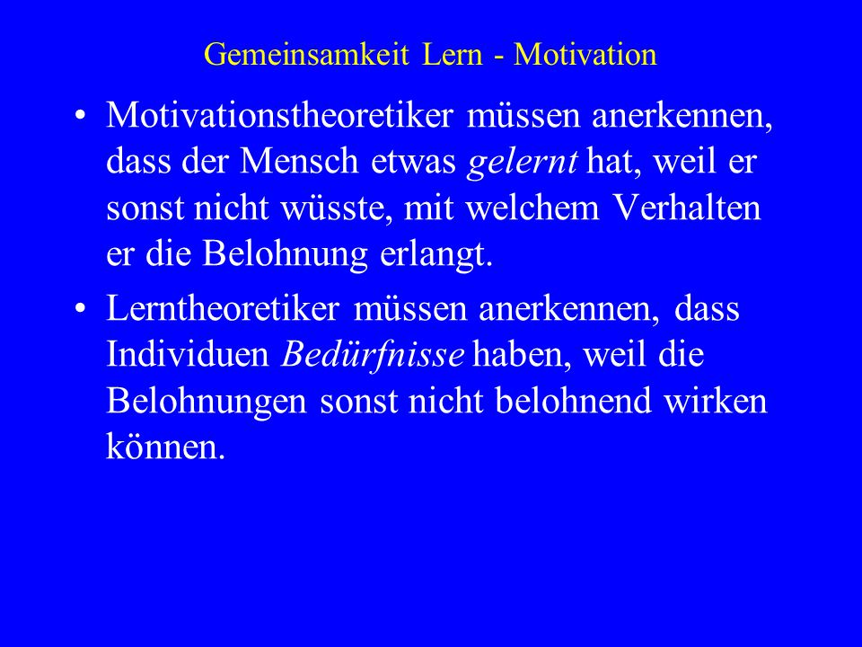 Gemeinsamkeit Lern - Motivation