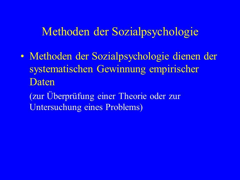 Methoden der Sozialpsychologie