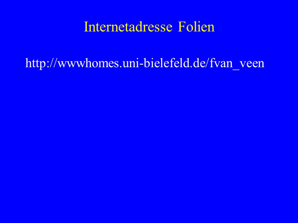 Internetadresse Folien