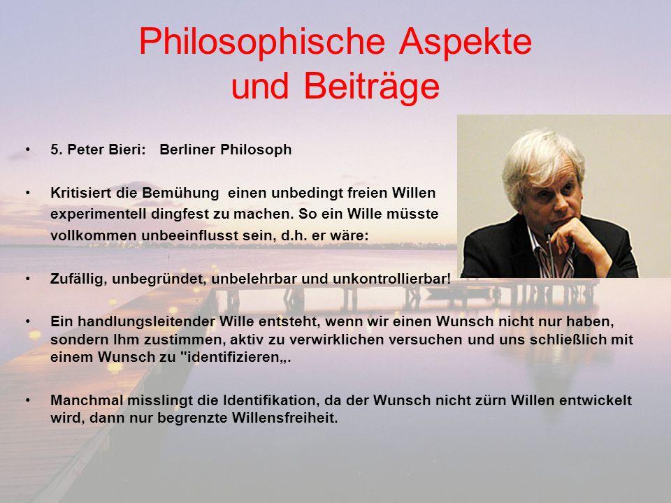 Philosophische Aspekte und Beiträge
