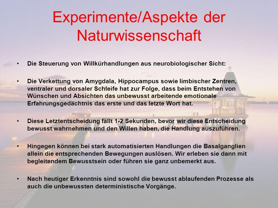 Experimente/Aspekte der Naturwissenschaft