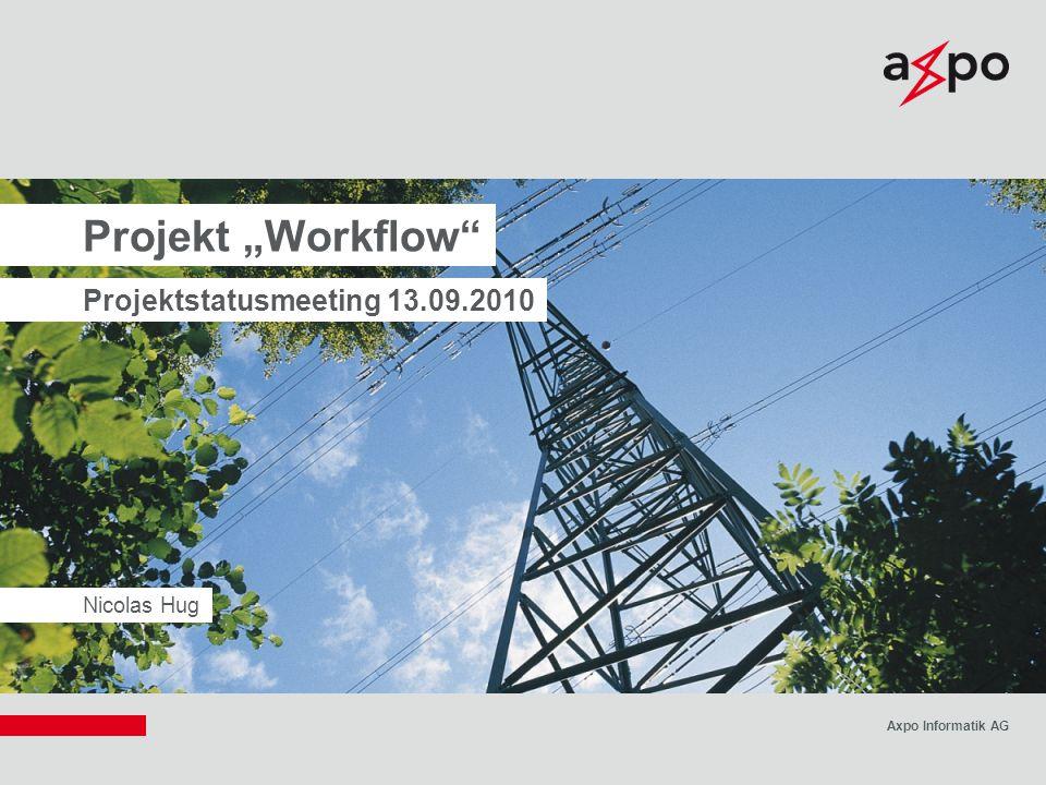 "Projekt ""Workflow Projektstatusmeeting 13.09.2010 Nicolas Hug"
