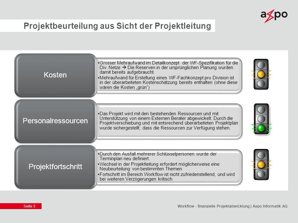 Projektbeurteilung aus Sicht der Projektleitung