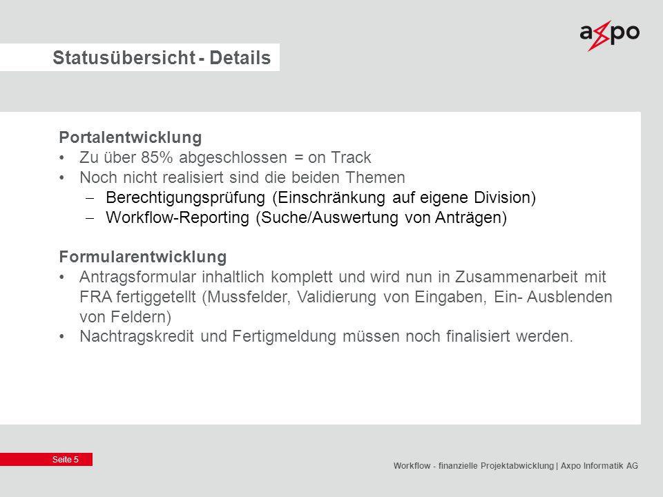 Statusübersicht - Details