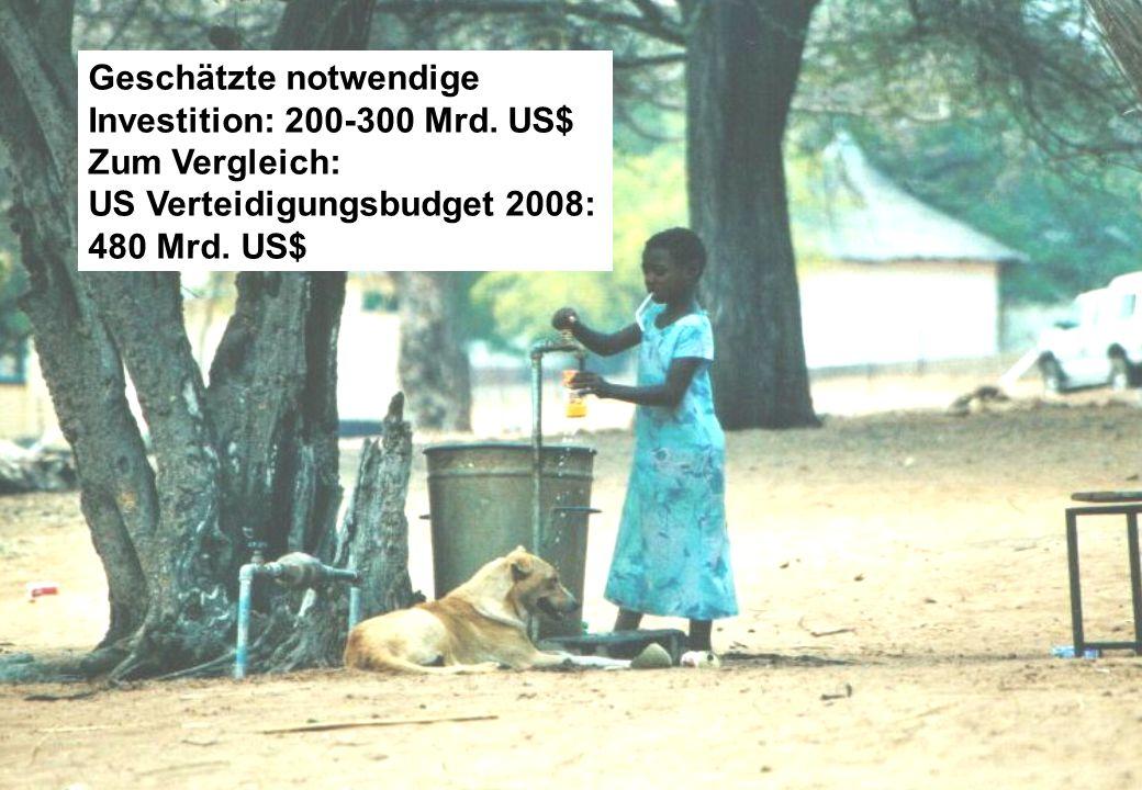 Geschätzte notwendige Investition: 200-300 Mrd. US$