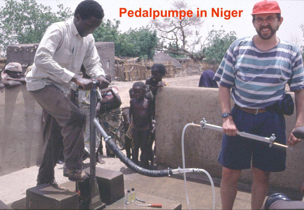 Pedalpumpe in Niger