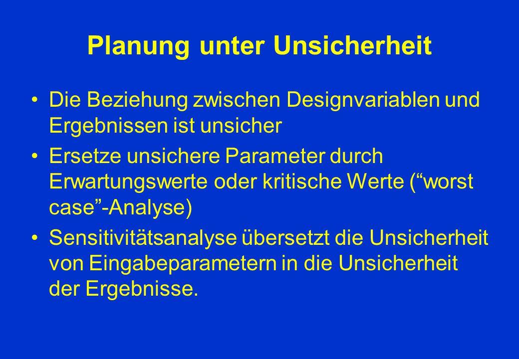 Planung unter Unsicherheit