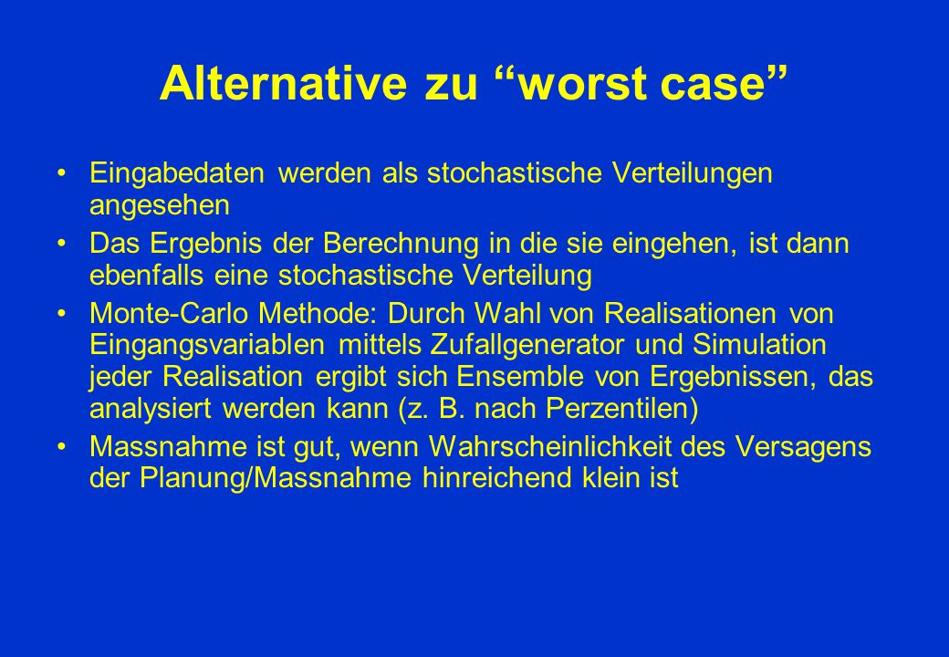 Alternative zu worst case