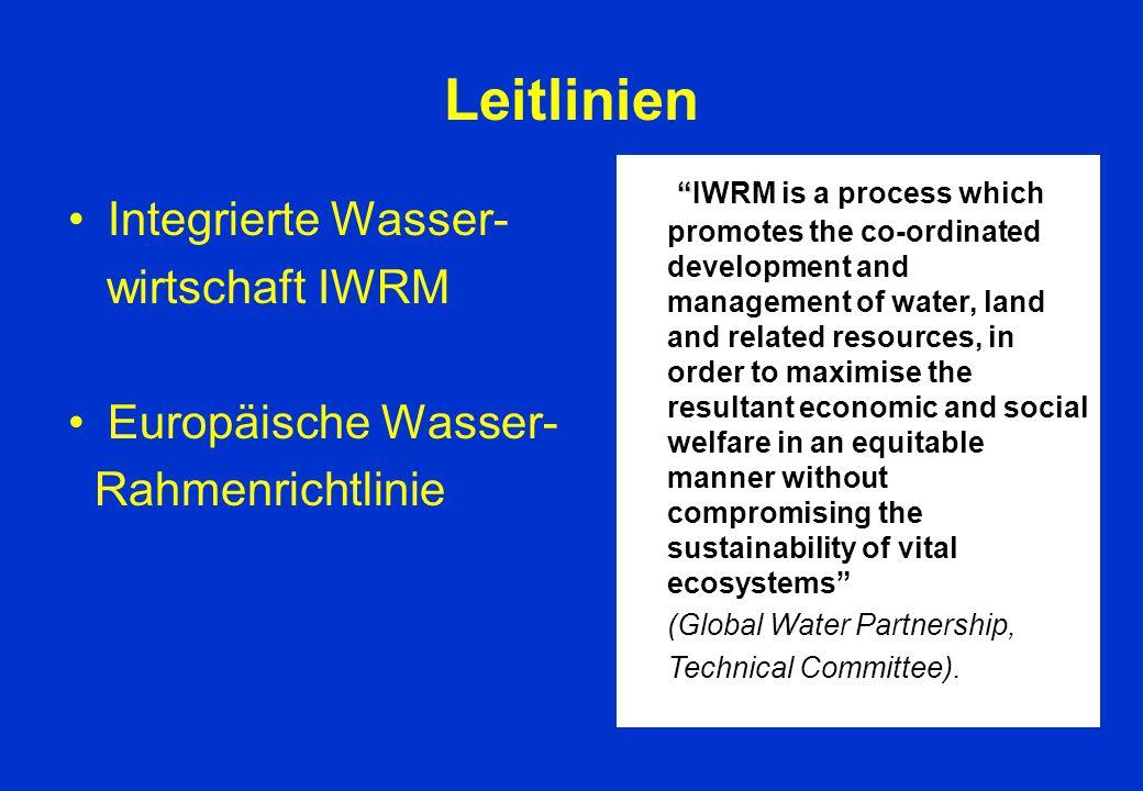 Leitlinien Integrierte Wasser- wirtschaft IWRM Europäische Wasser-