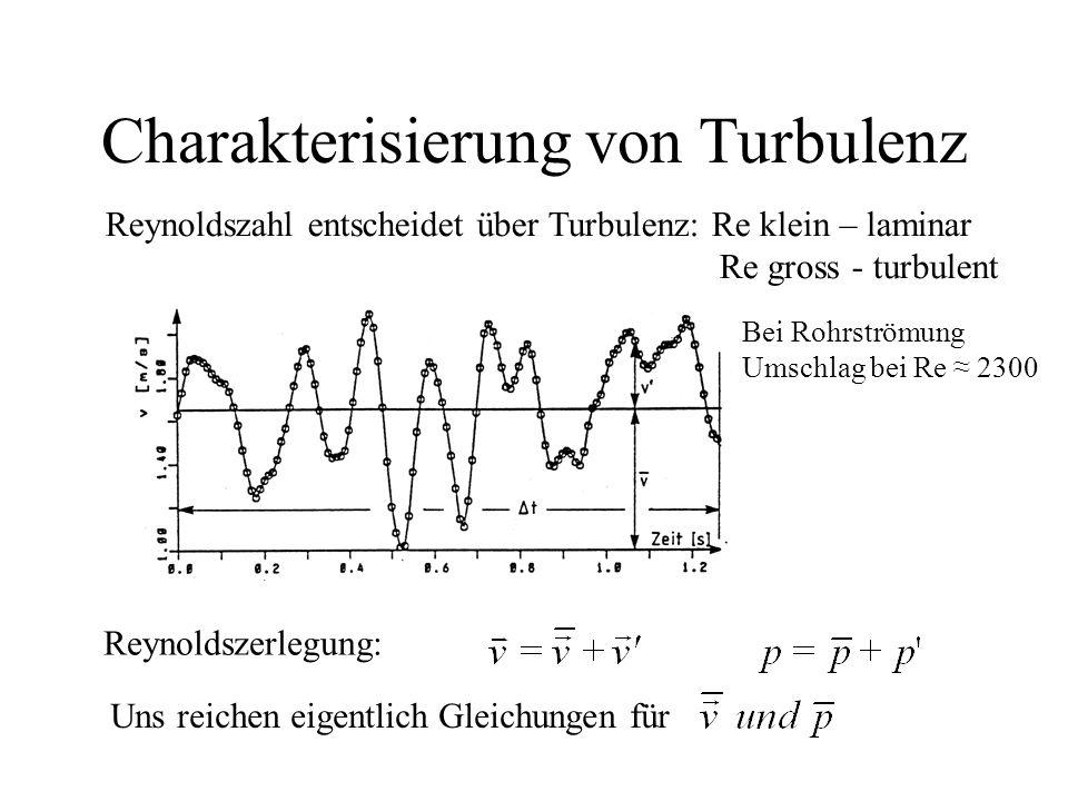 Charakterisierung von Turbulenz