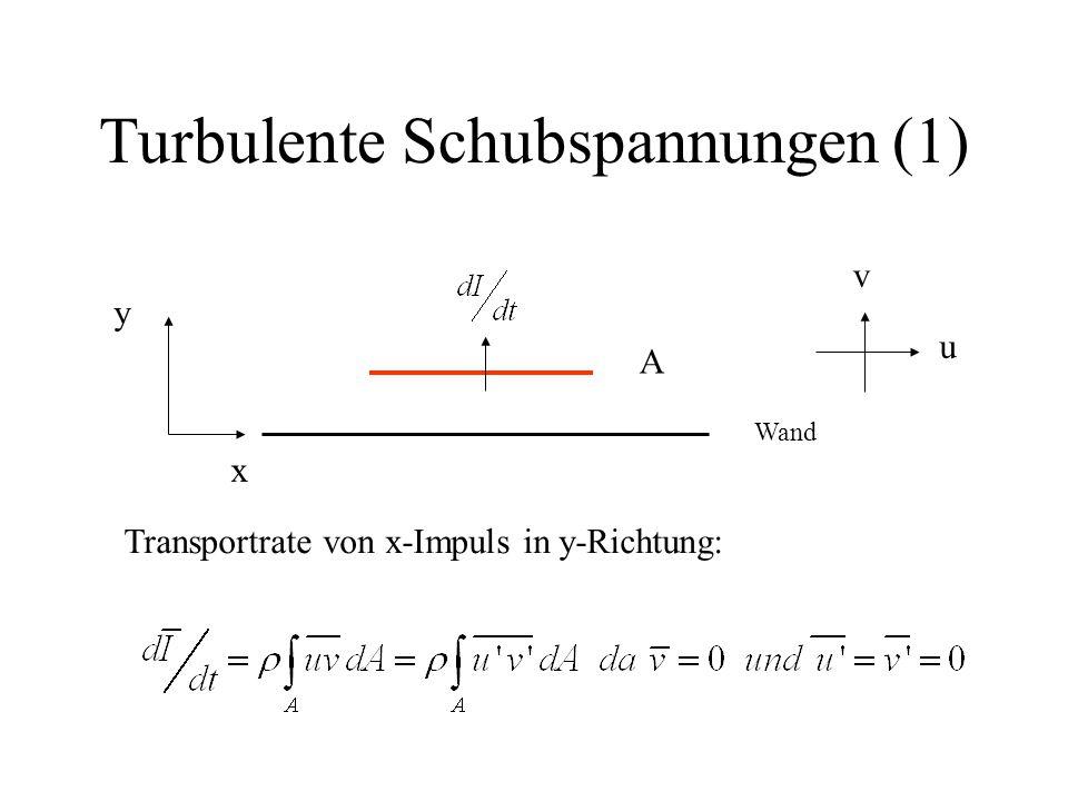 Turbulente Schubspannungen (1)