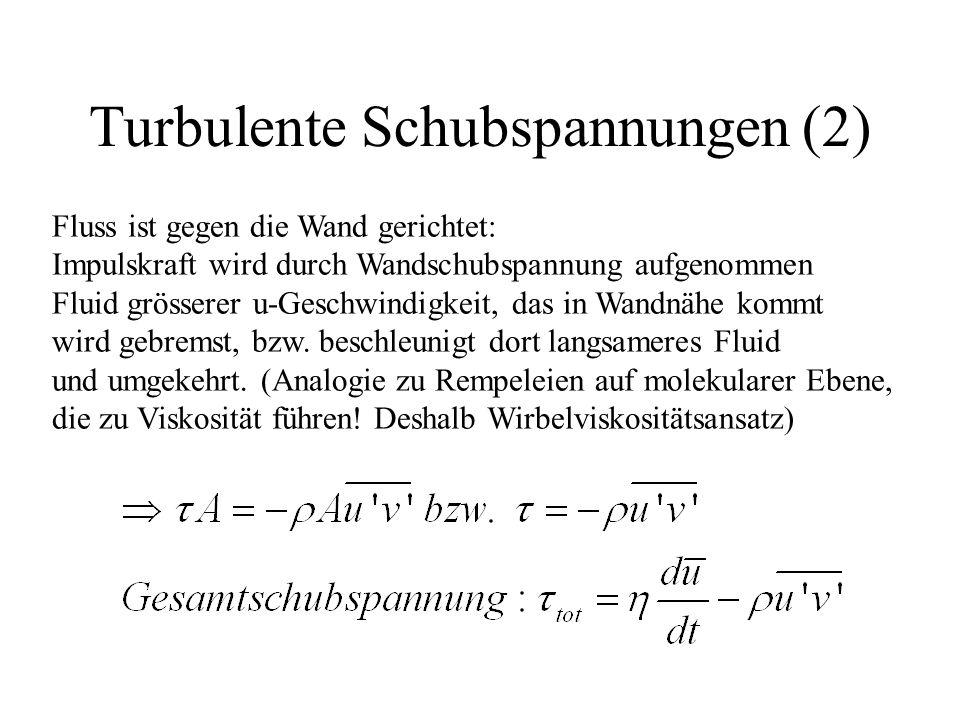 Turbulente Schubspannungen (2)