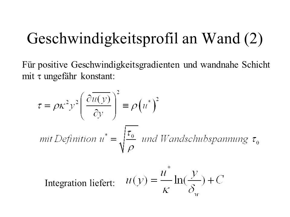 Geschwindigkeitsprofil an Wand (2)