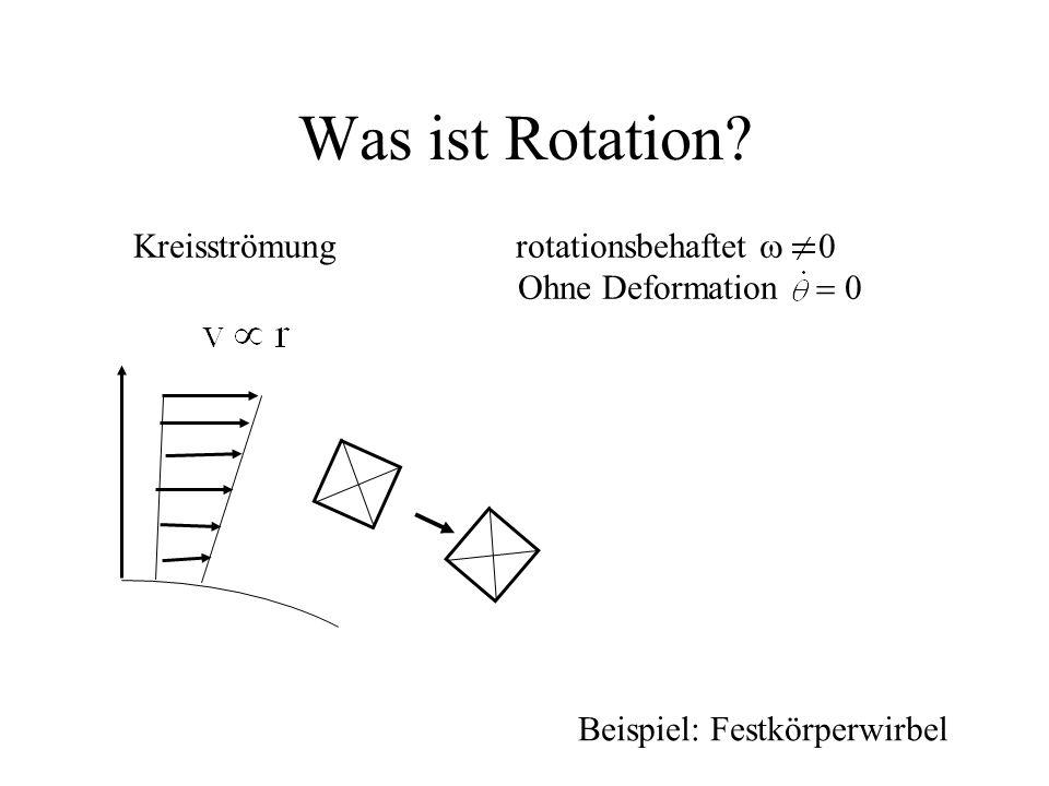 Was ist Rotation Kreisströmung rotationsbehaftet w 0