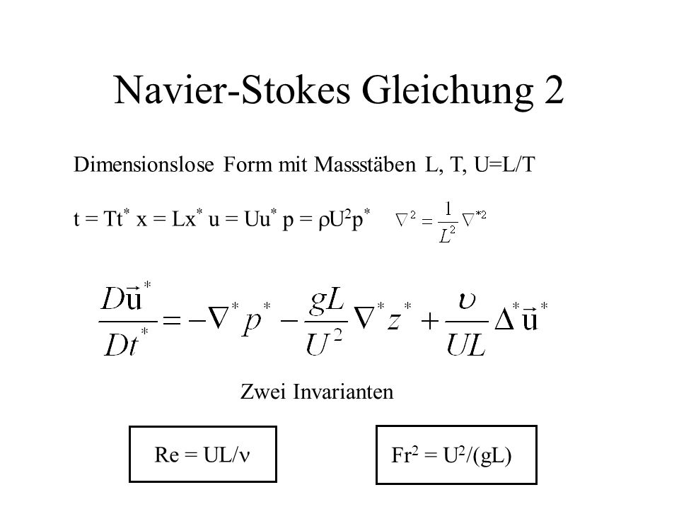 Navier-Stokes Gleichung 2