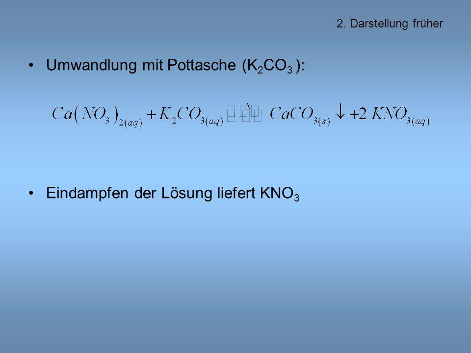 Umwandlung mit Pottasche (K2CO3 ):
