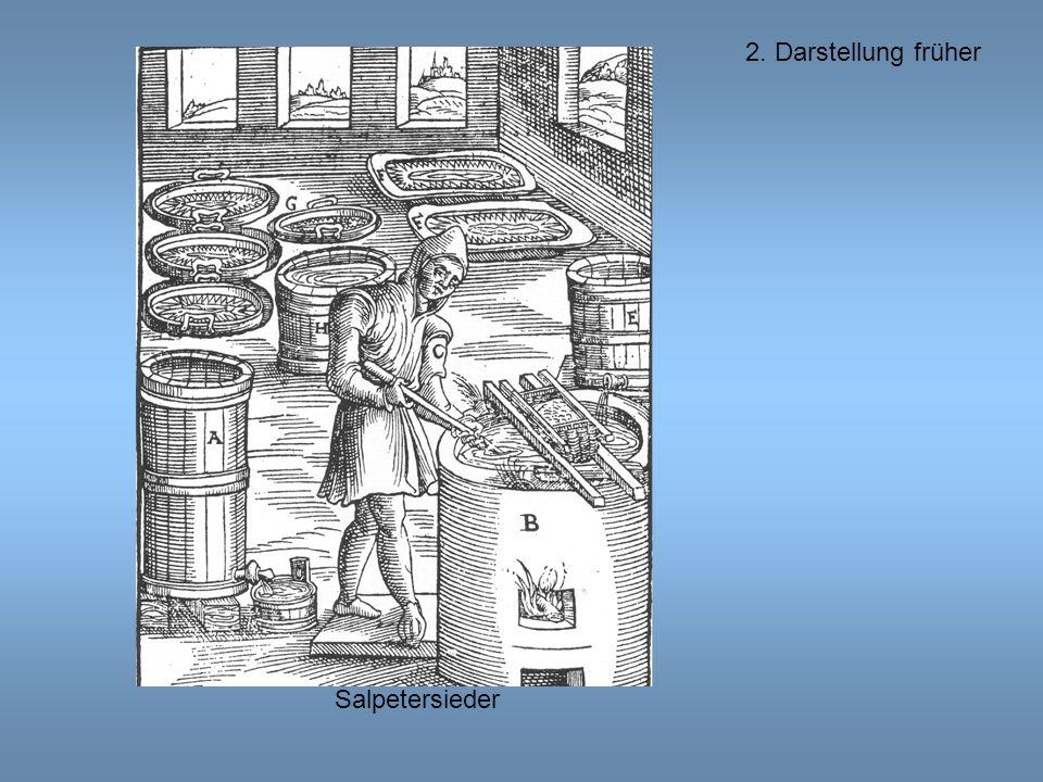 2. Darstellung früher Salpetersieder