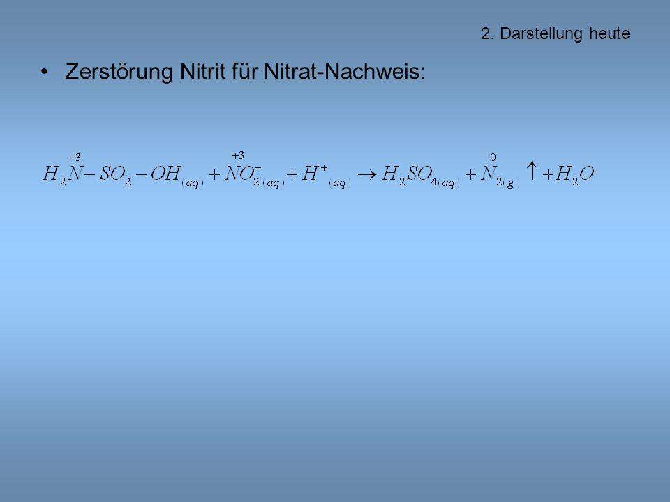 Zerstörung Nitrit für Nitrat-Nachweis:
