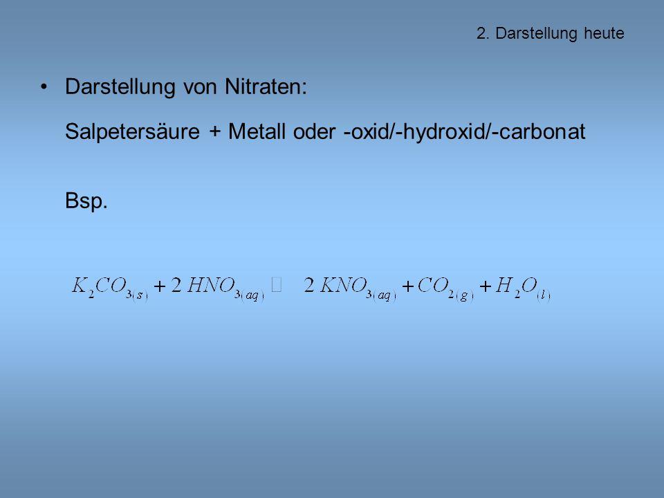 Darstellung von Nitraten: