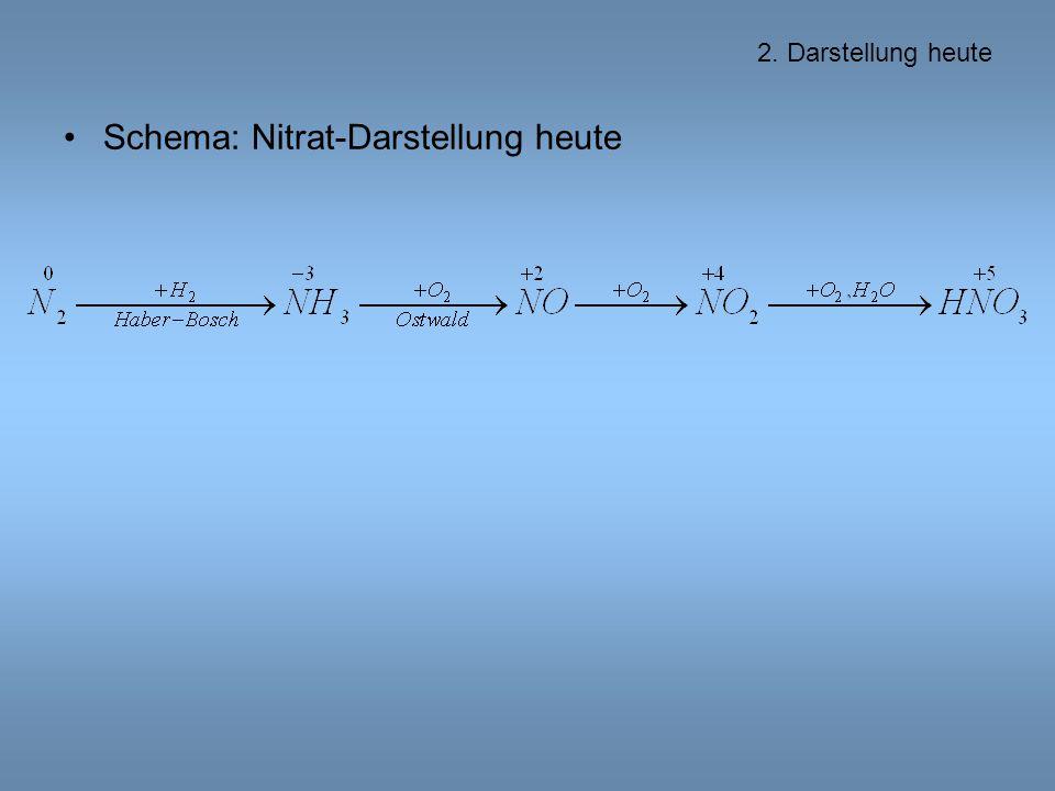 Schema: Nitrat-Darstellung heute