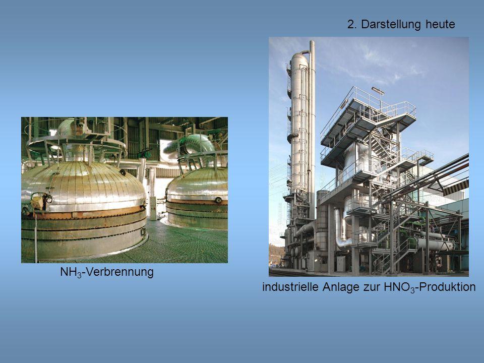 2. Darstellung heute NH3-Verbrennung industrielle Anlage zur HNO3-Produktion