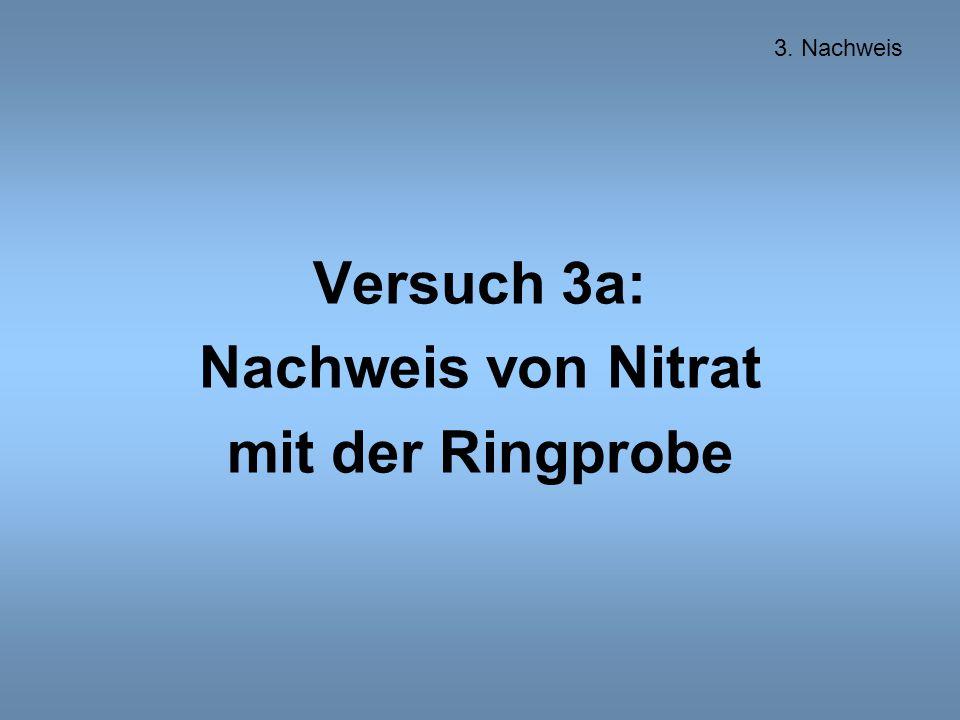 Versuch 3a: Nachweis von Nitrat mit der Ringprobe