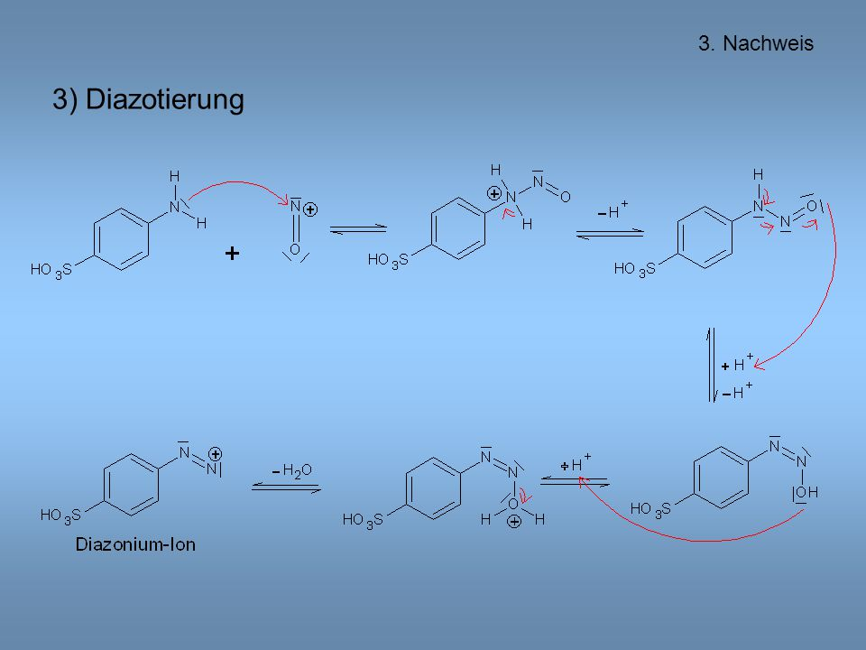3. Nachweis 3) Diazotierung