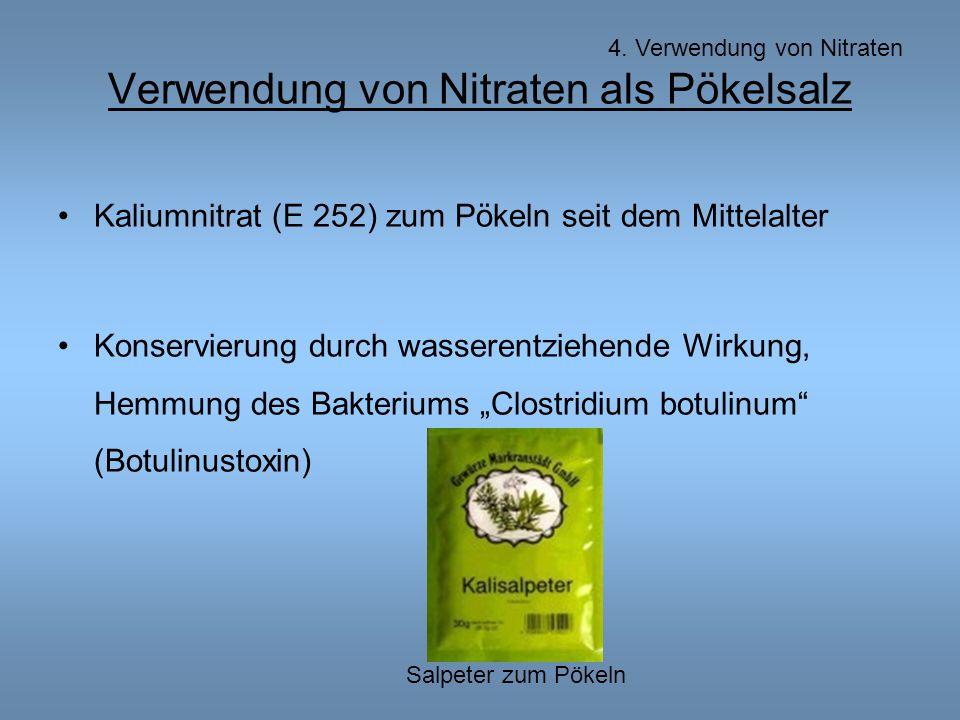 Verwendung von Nitraten als Pökelsalz