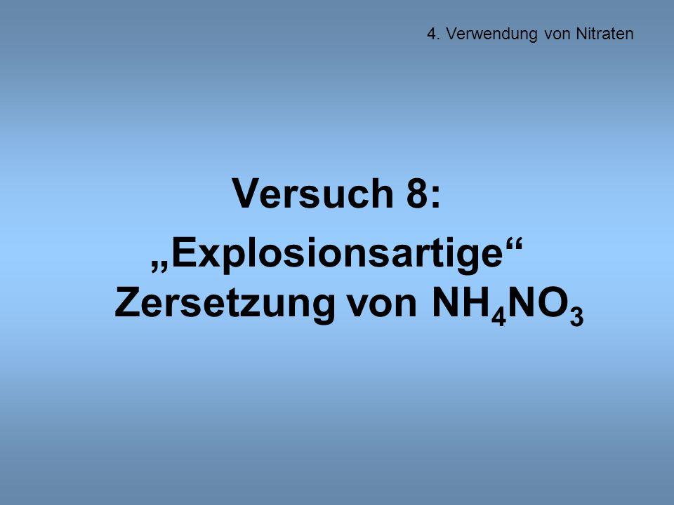 """""""Explosionsartige Zersetzung von NH4NO3"""
