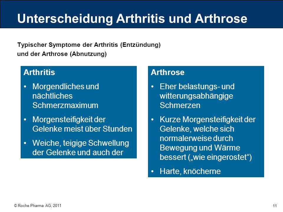 Unterscheidung Arthritis und Arthrose